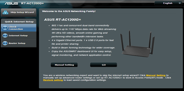 Asus Setup Wizard AC1200