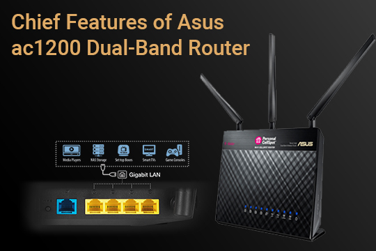 Chief Features of Asus ac 1200 Dual-band router